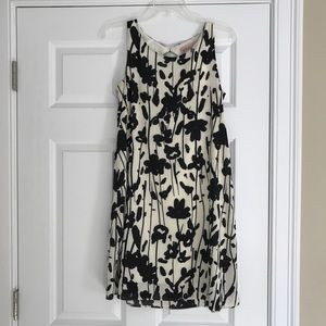 Philosophy black and white dress
